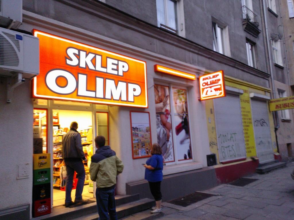 Kaseton świetlny dwustronny led sklep spożywczy