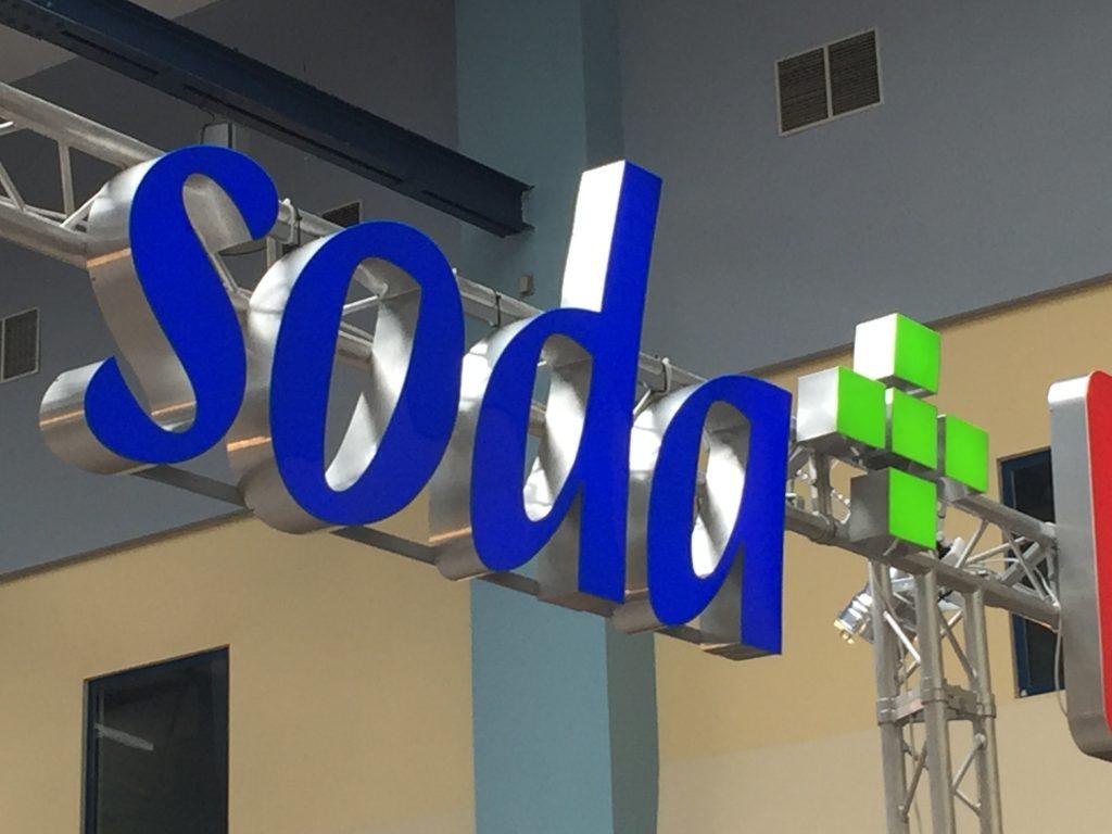 Litery podświetlane dla firmy z urządzeniami do wyposażenia gastronomii https://sodapluss.pl/