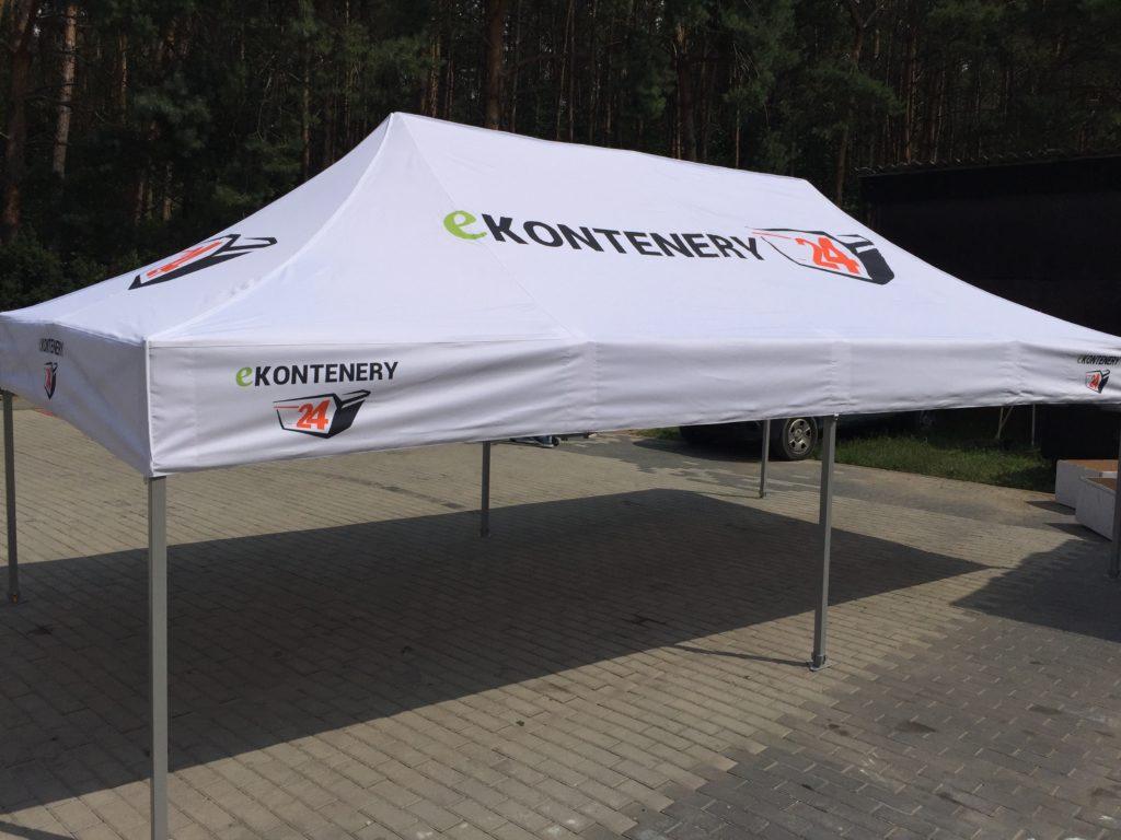 Namioty reklamowe wystawiennicze dla firmy ekontenery24.pl http://www.ekontenery24.pl/